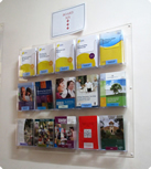 Wall Mount Brochure Holder Dl Brochure Display Dl Wall